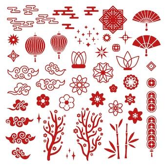 Chinesische neujahrselemente.