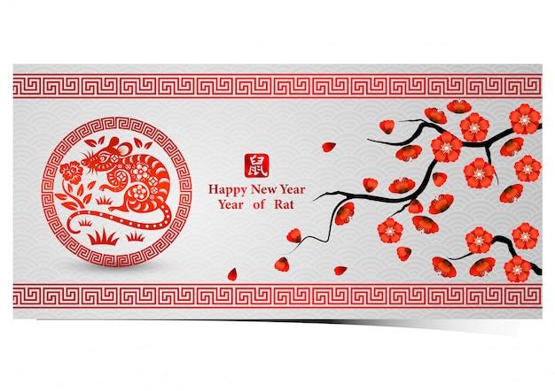 Chinesische neujahrsgrußkarte