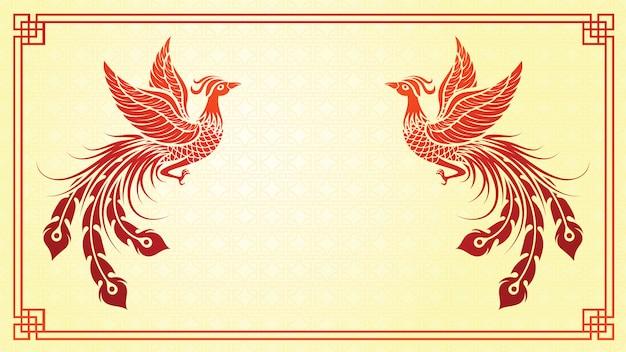 Chinesische phoenix-vorlage