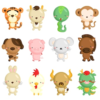 Chinesische tierkreis-tiere