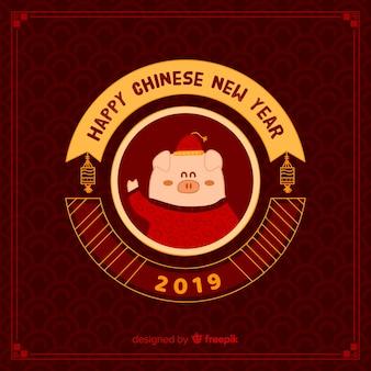 Chinesischer hintergrund des neuen jahres 2019