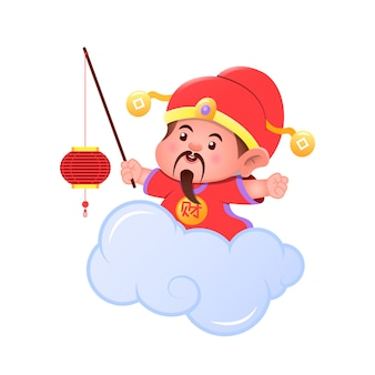 Chinesischer junge wünscht ein frohes neues jahr