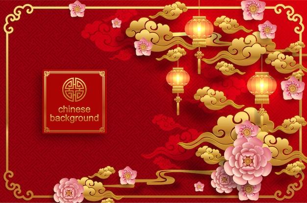 Chinesischer orientalischer hochzeitshintergrund