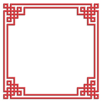 Chinesischer rahmen des musters 3d
