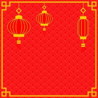 Chinesischer rahmen für das neue jahr