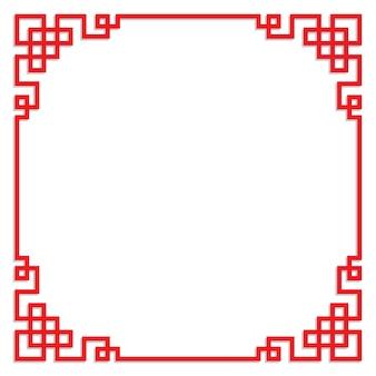 Chinesischer roter rahmen mit kopienraum