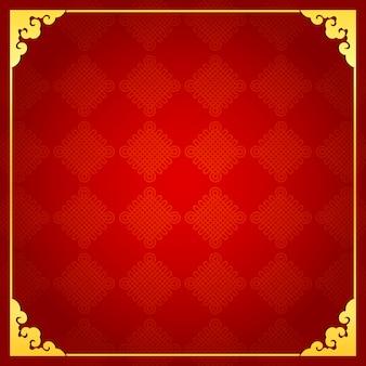 Chinesischer traditioneller hintergrund mit goldenem rahmen