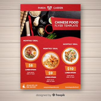 Chinesisches essen flyer vorlage