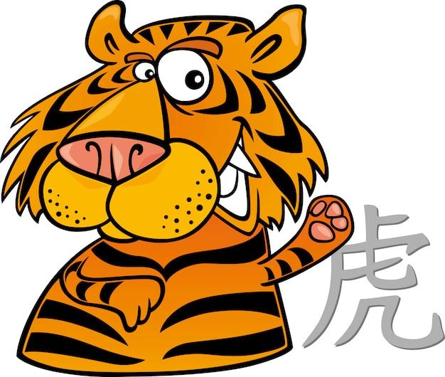 Chinesisches horoskopzeichen des tigers