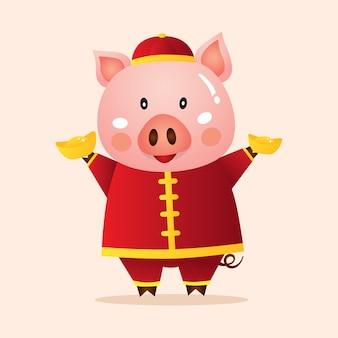 Chinesisches neues jahr 2019 des schweins