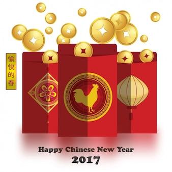 Chinesisches neujahr hintergrund-design