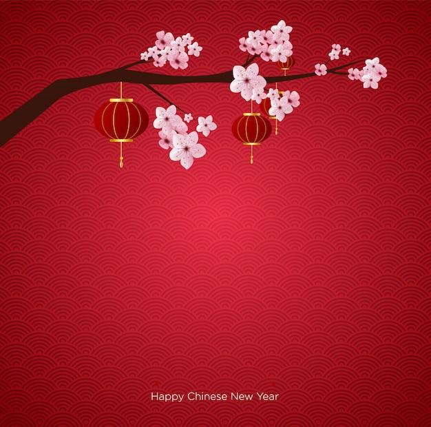 Chinesisches neujahr hintergrund
