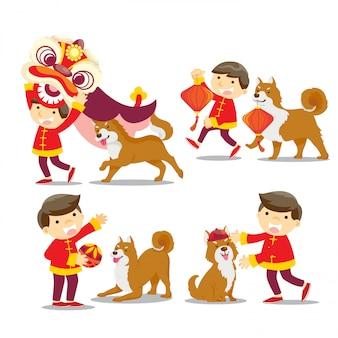 Chinesisches neujahr / jahr des hundes