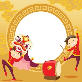 Chinesisches neujahr / lion dance