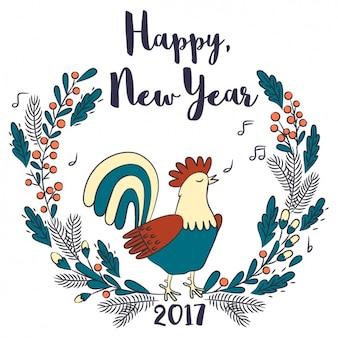 Chinesisches neujahr, von hand gezeichnet