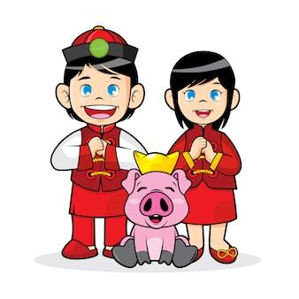 Chinesisches neujahrsthema