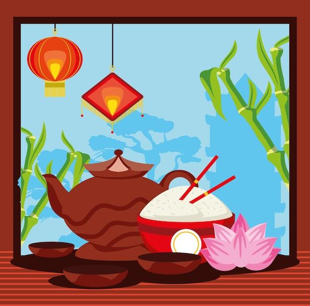 Chinesisches traditionelles teeessen
