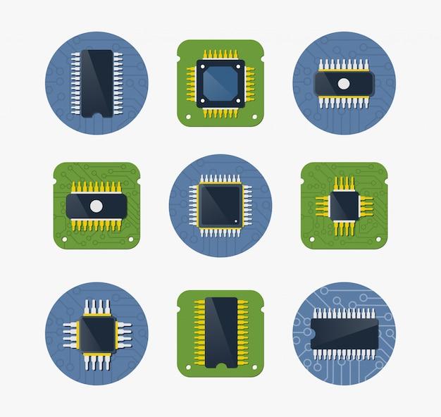 Chip-gerät der technologie