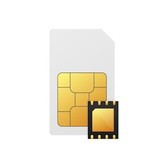 Chip-motherboard auf weiß