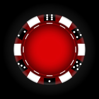 Chips für das casino. glücksspiel. illustration.