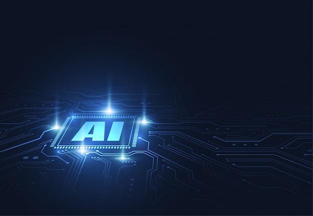 Chipsatz der künstlichen intelligenz auf leiterplatte