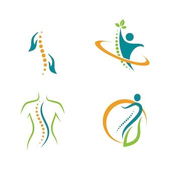 Chiropraktik symbol vektor icon design illustration vorlage
