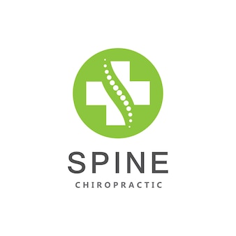 Chiropraktik wirbelsäule dot logo symbol vektor vorlage