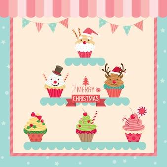 Chirstmas cupcakes café