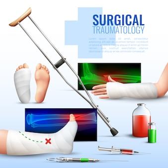 Chirurgisches traumatologie-konzept