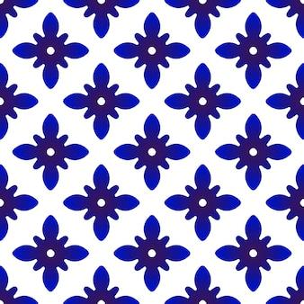 Chiware muster blau und weiß