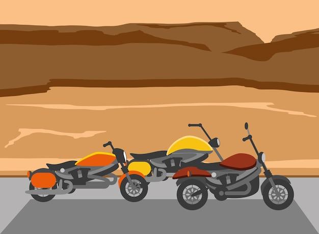 Chopper-motorräder in der wüste