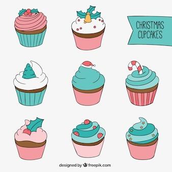 Chrismas cupcakes set
