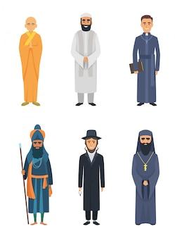Christliche, jüdische und andere verschiedene religionsführer