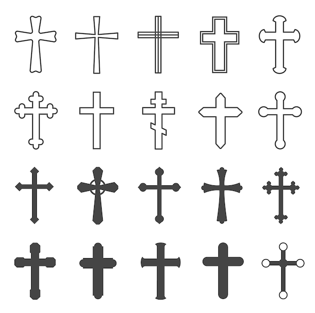 Christliche kreuze