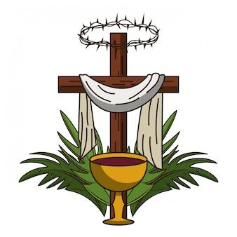 Christliches kreuz symbol