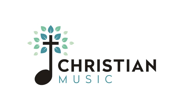 Christliches musiklogodesign