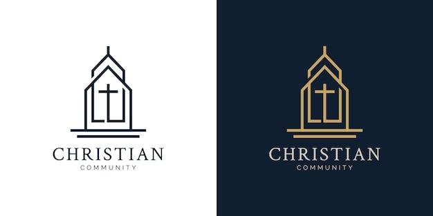 Christliches und kirchliches logo-designkonzept