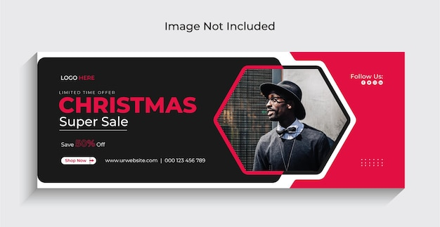 Christmas fashiom verkauf social media instagram webbanner oder facebook cover vorlage premium