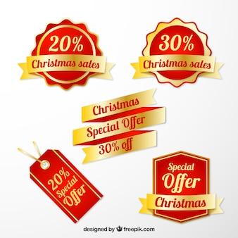 Christmas sale-tags-auflistung