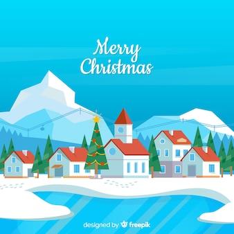 Christmas see stadt hintergrund