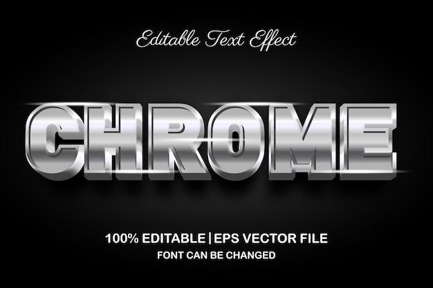 Chrome 3d bearbeitbarer texteffekt