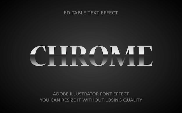 Chrome bearbeitbarer texteffekt