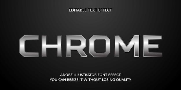Chrome editable text font effect