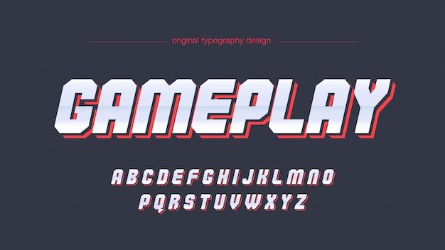 Chrome red techno futuristische typografie