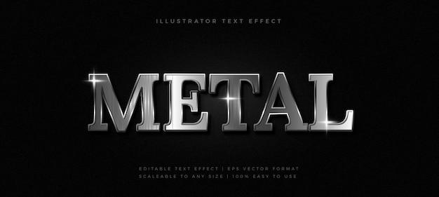 Chrome silver text style schrifteffekt