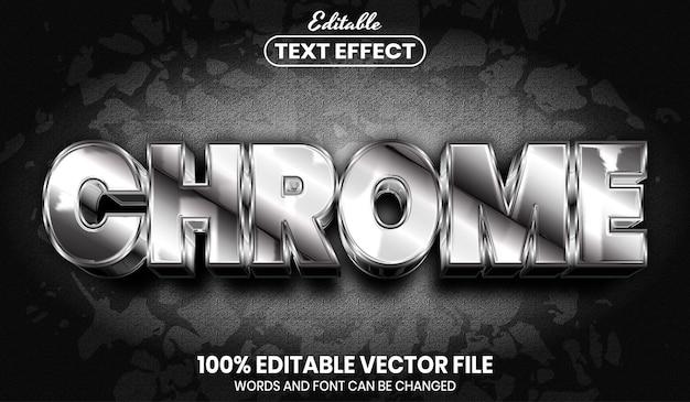 Chrome-text, bearbeitbarer texteffekt im schriftstil