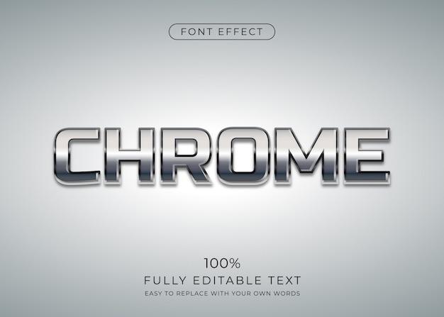 Chrome-texteffekt. bearbeitbarer schriftstil
