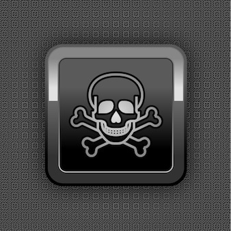 Chrome web button. kunststoffstruktur.