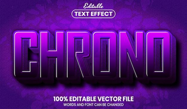 Chrono-text, bearbeitbarer texteffekt im schriftstil