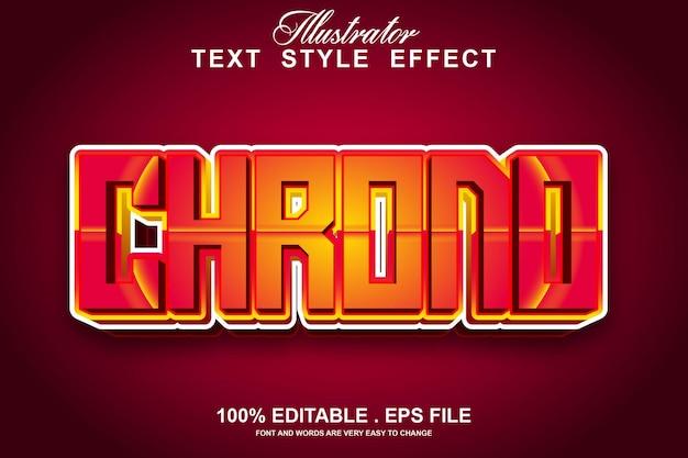 Chrono-texteffekt editierbar